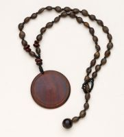 Wood Disk Necklace