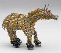 Mini Beaded Wire Horse