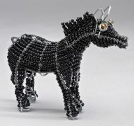 Mini Beaded Wire Horse