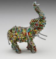 Mini Beaded Wire Elephant