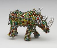 Mini Beaded Wire Rhino