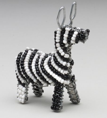 Mini Beaded Wire Zebra