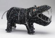 SM Beaded Wire Hippo