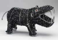 SM Beaded Wire Hippo