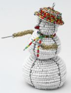 Med Beaded Wire Snowman