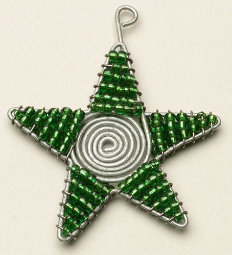 Beaded Wire Star