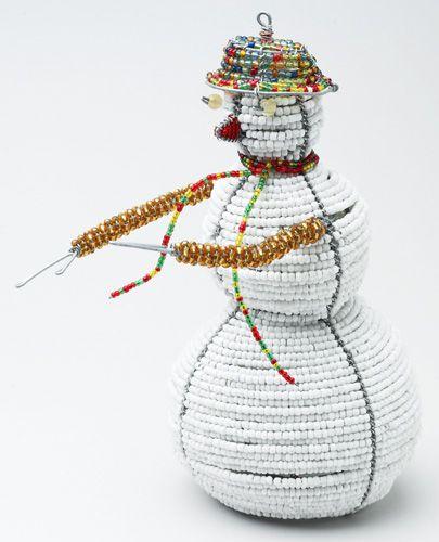 LG Beaded Wire Snowman