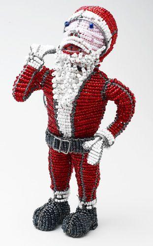 LG Beaded Wire Santa