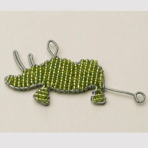 Beaded Wire Rhino