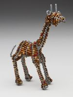 Mini Beaded Wire Giraffee