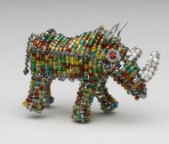 Mini Beaded Wire Rhino