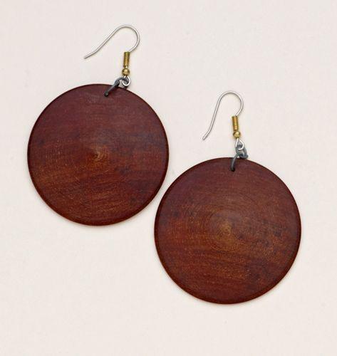 Wood Disk Earrings