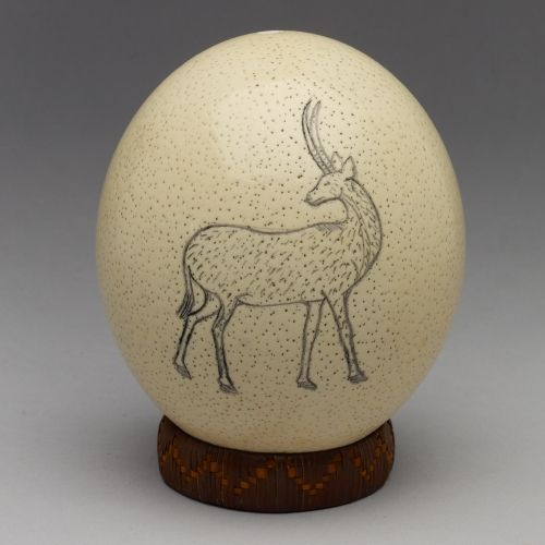 Decorated Ostrich Egg Shells